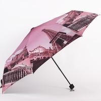 2014 Hot Europe Printing Umbrella Creative Three-folding Sunny and Rainy Umbrella Free shipping