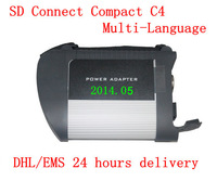 2014hot sale new MB star c4 SD Connect Compact 4 Star Diagnosis for mercedes benz only main machine with dhl free shipping