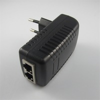 DC48V 0.5A 10/100Mbps PoE Injector Power Over Ethernet Adapter,Compliant to IEEE802.3af,AC100-240V,short circuit protection
