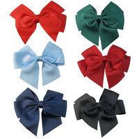 Free Shipping 5pcs baby ribbon bows WITH clip,Girl pin wheel Hair Bows Clips Boutique bows hair pins,free color