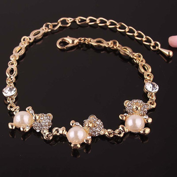 2014 Разноцветный Round, Bear, Hello Kitty, Flower, Kiss Shaped 14K Золото Plated Bracelets ...