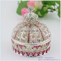 100% handmade enamel Crown shape jewelry gift boxes wholesale SCJ109-3
