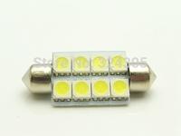 100 PCS Car Auto Interior  5050 8 LED SMD Festoon Dome  41mm Light LED Licence Plate Roof Car Light 12V White  wholesale