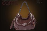 100% Genuine Leather Fashion Women's Shoulder Bags Top Grade Snake Grain Crossbody Handbags For Lady *Free Shipping B2028-4