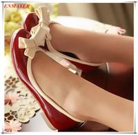 ENMAYER Hot! Round Toe Bow Women flats 2015 PU Casual women shoes, ballerina flats, Spring / Autumn shoes