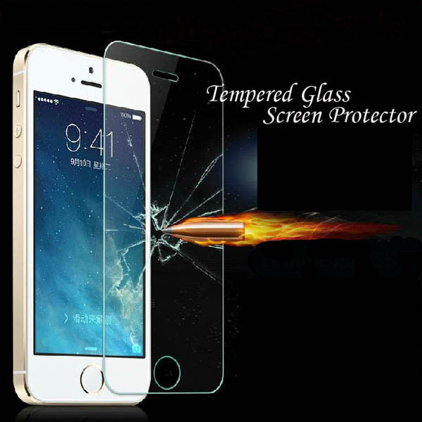 Tempered Glass!! Clear Front Screen Protector For Iphone 4 4s 4g Ultra Thin Crystal Protective Film Retail Package RCD4010(China (Mainland))