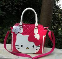 2014  New  Bow   Hello Kitty    Zipper    Messenger    tote bag handbag shoulder  Women Girl Lady Size(32cm*29.0cm*9.5cm)