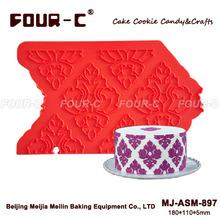 Onlay silicone damasco , molde de artesanato bolo, molde de silicone bolo de decoração(China (Mainland))