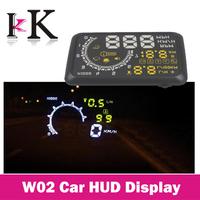 W02 Car Head Up Display Car HUD Showing OBD Insert Head Up Display KM/h & MPH Speeding Warning OBD2 System
