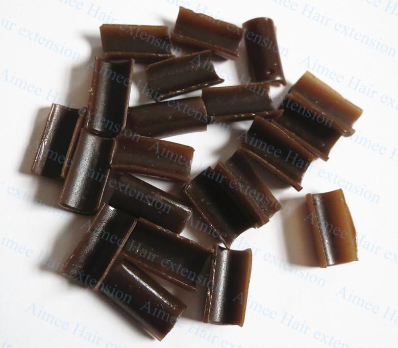 Grátis frete 1000 pcs queratina cola prego dica queratina rebonded cor marrom(China (Mainland))