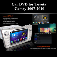 NEW Android Auto Car DVD Player for Toyota Camry 2007-2010 GPS Android 4.2.2 Dual Core 8 Inch Silver Color 2 Din Free Shipping