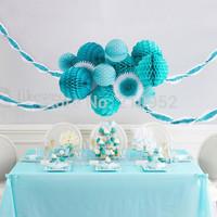 Free Shipping 10 pcs 10cm(4inches) Honeycomb Lantern Paper Flower Balls Hanging Decoration,  Wedding ,Party, Festival Decoration