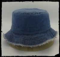 2014 Fashion bucket hat 100% cotton washed denim fabric fishman hat