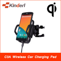 Qi Wireless Car Charger Transmitter In-Car Charging for Nexus 4 Nokia Lumia 920 HTC Droid DNA iPhone 4G/5G Samsung S4 S5