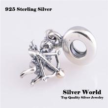 Fits European brand Charm Bracelet DIY Making 925 Sterling Silver Original Beads Eros Cupid Charm Women Jewelry 2014 LW345