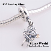 Fits European Bracelet 925 Sterling Silver Jewelry For Woman DIY Making Original Beads Eros Cupid Charm