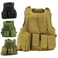 USMC Airsoft Tactical Military Molle Combat Assault Plate Carrier Vest Tactical vest 7 Colors
