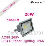 Free shipping 20W COB LED Floodlight IP65 AC85-260V Factory Outlet LED Landscape Lighting
