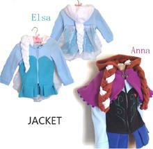 Frozen jacket. New autumn/winter children's coat, 100% cotton Elsa & Anna coat, European and American fashion children's coat(China (Mainland))