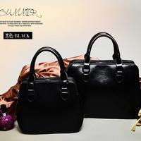 Hot sale!!!  new 2014 Casual All-match genuine leather fashion vintage black  Women's Handbag Shoulder Messager Bags