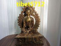 27 cm tall Tibetan Buddhist bronze medicine buddha statue free shipping