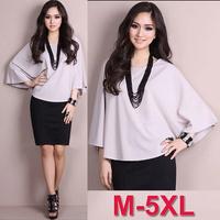5XL Loose Batwing Short Sleeve T-shirt for Women Summer Cotton Plus Size L XL XXL XXXL 4XL 5XL Top