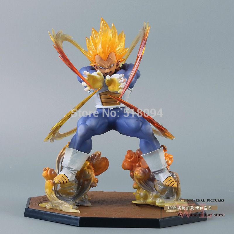 Anime Dragon Ball Z Super Saiyan Vegeta Battle State Final Flash PVC Action Figure Collectible Model Toy 15CM DBFG129(China (Mainland))