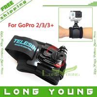 2014 New 360 degree go pro Wrist Mount gopro hero3 accessories  for gopro hero 3 black  gopro hd hero 3+   gopro hero2