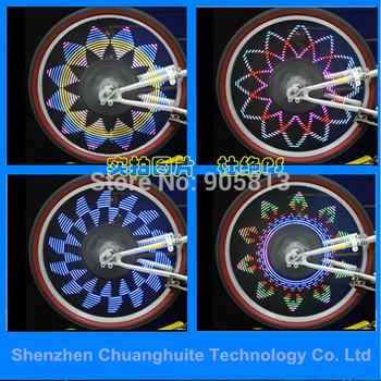 2014 40 графических моделей и 5 сообщения и программирование отключается автоматически отключается ABS водонепроницаемый 14 из светодиодов велосипед говорил свет CE ROHS