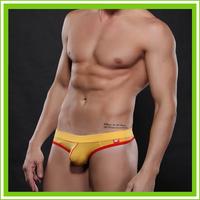 Rosy/Yellow/Purple/Black/Gray/White   Sexy Underwear Men's Cozy Briefs Modal Man Briefs  Cotton + Spandex  WJ 4003-DK