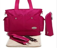 High Quality Retail Fashion 2014 Nappy Changing Mummy Bag Maternity Woman Handbag Diaper Bags Baby Tote Organizer L0020