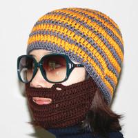 New 2014 Novelty beard hat face mask hat chapeu knitted crochet hat women winter beanie for men toucas feminina gorro de inverno