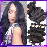 Ali Moda Hair Peruvian Virgin Hair 4/3pcs Human Hair Weaves Peruvian body wave Unprocessed Virgin Peruvian Hair Free Shipping