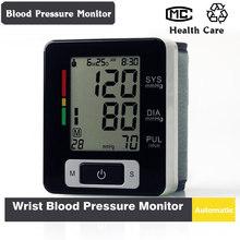 digital automático sangre muñeca presión y el pulso monitor esfigmomanómetro portátil monitor de presión arterial envío gratis(China (Mainland))