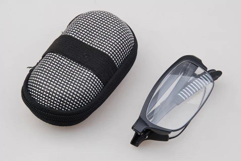Flexible Mini Folding Reading Glasses with Case,TR90 Ultra Light Foldable +RX Hyperopia Glasses,Optics Pocket Reader(China (Mainland))
