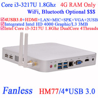2014 Barebone HTPC high end workstation thin client terminals with 4G RAM Intel Core i3-3217U 1.8Ghz USB 3.0 HDMI VGA DirectX 11
