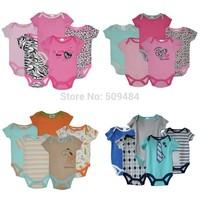 New 2014 Brand Baby Bodysuits Spring Babies Newborn Cotton Body Baby short Sleeve Next Infant Bebe Boy & Girl Clothing set