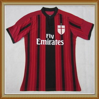 Embroidery Logo!!! 14/15 AC Milan Home Red Soccer Jersey ,Thailand Quality AC Milan Red Shirt+Free Shipping