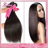 6A Peruvian virgin hair straight 3pcs 4pcs100% unprocessed human hair weave bundles natural black virgin hair Weft Shipping Free