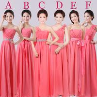 Wedding dress 2014 fashion new women's watermelon red bridesmaid dress Was thin Long section Bra dress