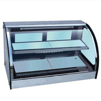 Curved glass warming showcase Display Cabinet, Cake Show Case , Stable Temperature