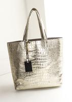 New 2014 Fashionable Crocodile Pattern Women Leather Handbags Shoulder Bags Big Women Bag Desigual Bolsos Tote,Small bag inside