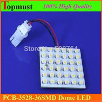 Free Shipping 2pcs 300lm 3W 36 SMD 1210/3528 3528/1210 LED Car Dome light Festoon Interior Indicator Light Bulb Lamp 12V