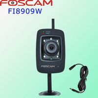 Foscam FI8909W  Black  Wireless CCTV IP Camera IR LED 60 Viewing Angle Night Vision mini webcam gsm alarm system