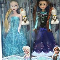 "2014 New Fashion Frozen Princess Anna  Dolls/Brand 32cm 12"" Dolls Cute Kids Gift Doll Gift/Designer Doll Toys For Girl"