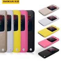 Baseus Finder Series Slim Intelligent Sleep Large Windows Leather Case For Galaxy S5 SV I9600 Phone Case Protective Sleeve