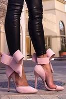 2014 Newest hot popular girl pumps Flower cut out women's sandals,pointed toe high heels,big bowknot dress shoe