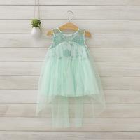 2014 New summer,girls princess vest dresses,children dovetail dress,embroidery,pink/white/green,2-8 yrs,5 pcs/lot,wholesale,1304