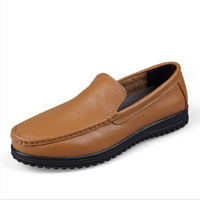 Plus Size Men Genuine Leather Sneakers 2014 New Winter Men Sneakers Shoes Man Moccasins Flat Shoe New Arrival Slip on Loafers