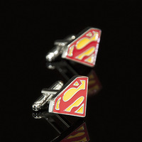 Accept Customized High Quality Promotional Action Comics Superhero Novelty Replica Cufflinks